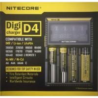 Nitecore D4 LCD Digital charger for NI-MH AA AAA 18650