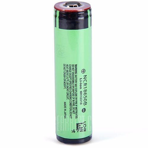 Panasonic Ncr 18650 B 3400mah Button Top Lithium Li Ion