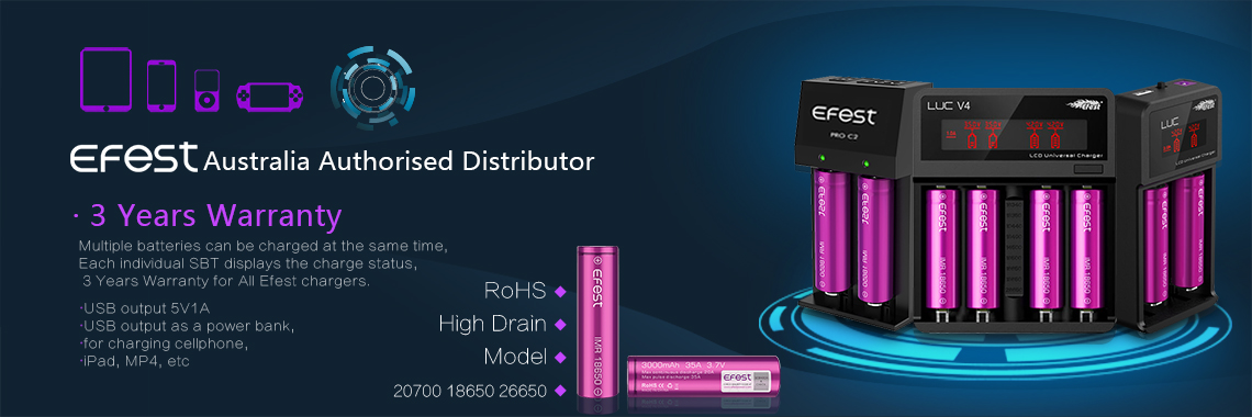 EFEST Australia Authorised distributor